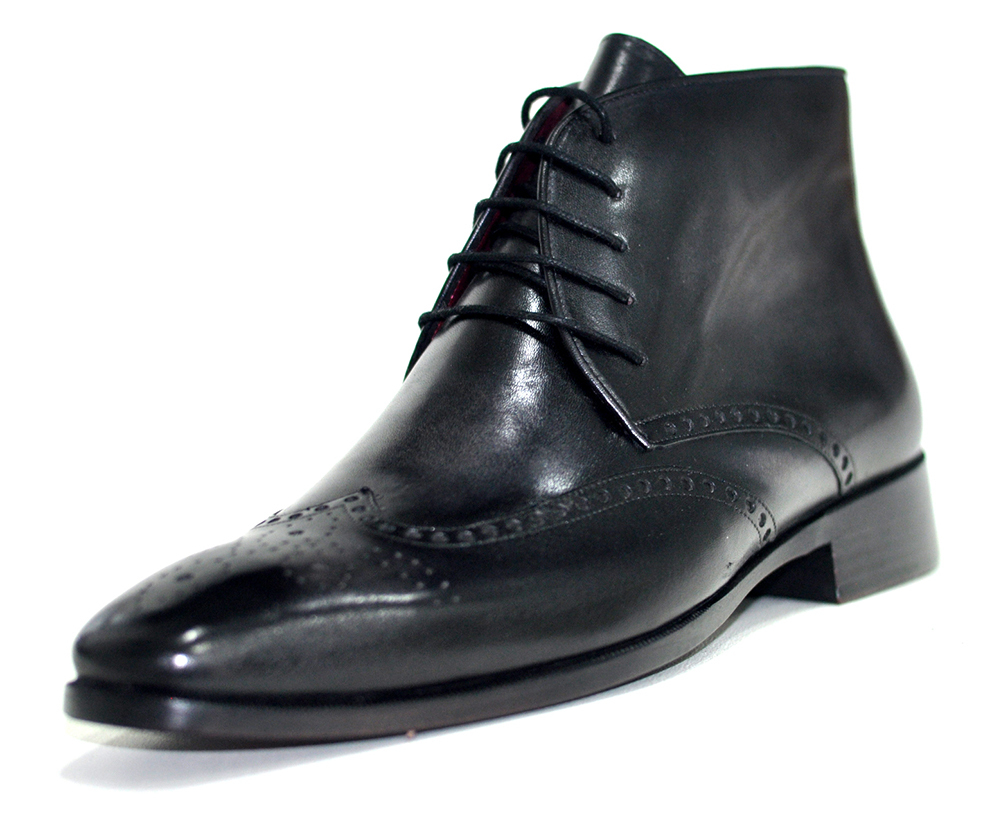 Handmade Luxury Mens Classic Italian Fine Leather Boots / Shoe