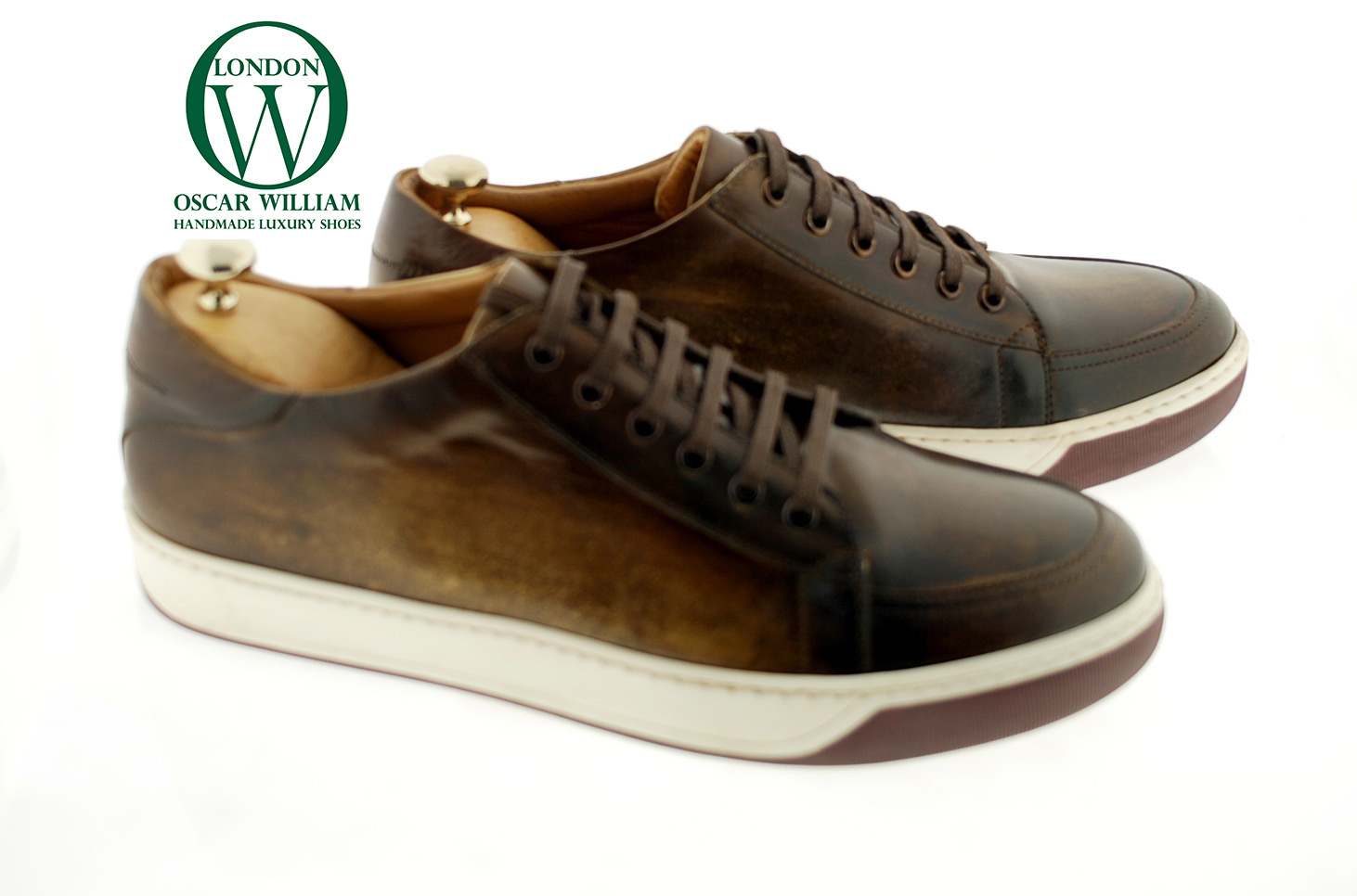 Luxury Classic Sneakers Frank Brown Patina Oscar