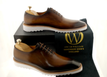 Luxury Classic Sneakers  (Ronnie) Handmade Oxford For Men thumbnail image