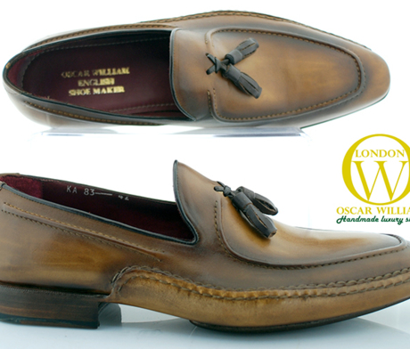 Tan Montmartre Men's Luxury Classic Handmade Leather Shoes